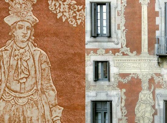 Esgrafiats de la Casa de la Seda
