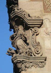Fachada de la Casa de la Seda, Nuestra Señora de los Ángeles