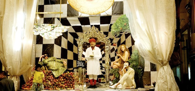 El patró tauler d'escacs en la pel·lícula l'Imaginari del Dr Parnassus