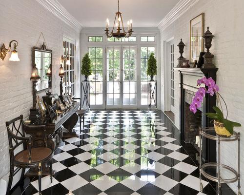 Patró del tauler d'escacs en disseny d''interiors.