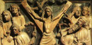 La iconografía asociada a santa Eulalia la representa en el ecúleo, un aparato de tortura que tenía forma de aspa, por lo que en ocasiones se confunde con una cruz.
