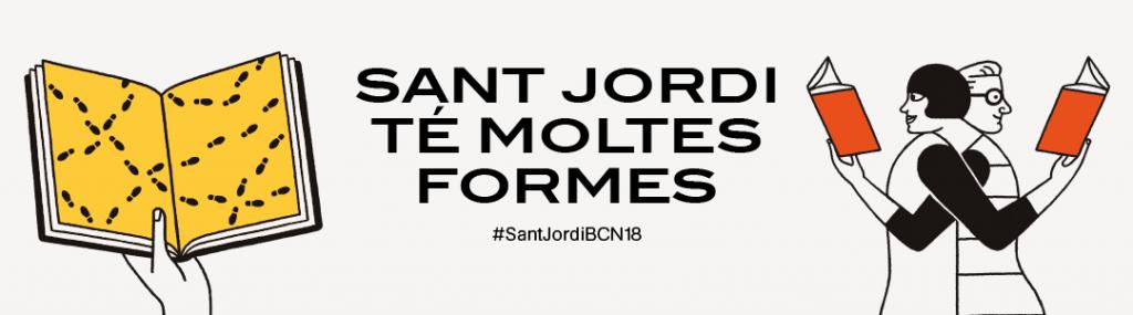 Lema de la Diada de Sant Jordi a Barcelona 2018
