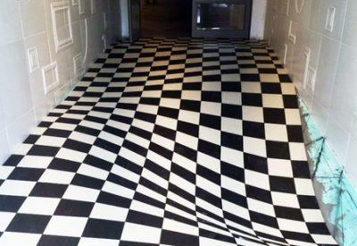 Tauler d'escacs a la Casa de la Seda de Barcelona